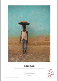 Bambuspapir – miljøvenligt papir i museumskvalitet med mat overflade.