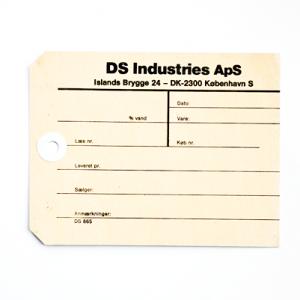 Manillamærke fra DS Industries ApS